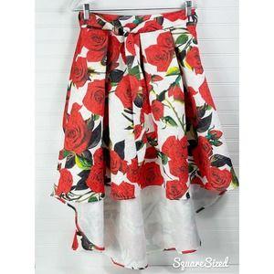 Love Culture Floral Hi Low Floral Skirt